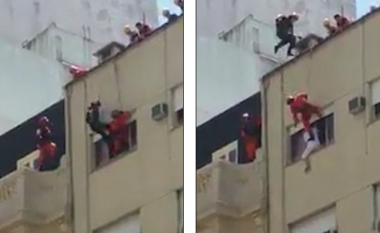 Pretendonte se do të bënte vetëvrasje, burri befasohet nga zjarrfikësit – një dramë me një fund jo të zakonshëm (Video)