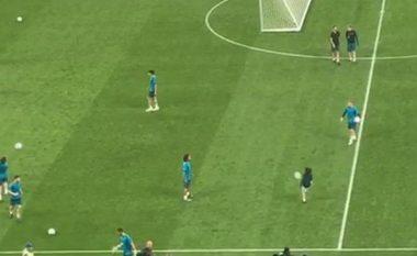 Perez e ftoi në fushë, djali i Marcelos tregon talentin në stërvitjen e skuadrës para finales ndaj Liverpoolit