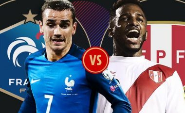 Formacionet zyrtare: Franca për kalimin e grupit, Peru për pikët e para