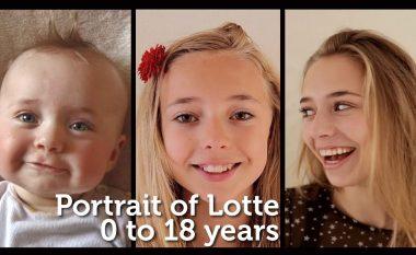 Babai filmon të bijën nga momenti i lindjes e deri te ditëlindja e saj e 18-të, dokumentoi ndryshimin ndër vite (Video)