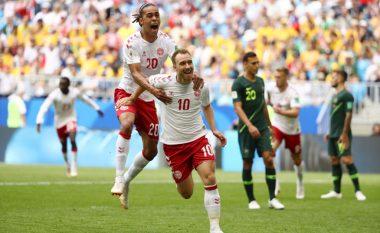 Goli i Danimarkës meriton notën 10-të, kombinim i mahnitshëm dhe goditje perfekt e Eriksen