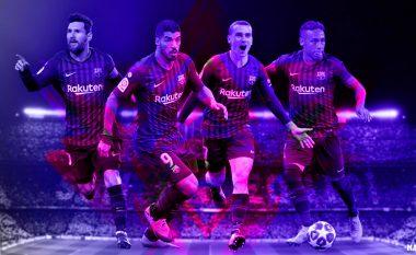 Messi, Suarez, Neymar dhe Griezmann në Barcelonë: Sulmi më i mirë ndonjëherë? Tri formacionet që Valverde mund t'i përdorë
