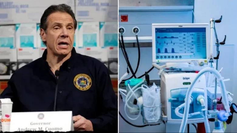 Guvernatori i New Yorkut: Katër të pestat e pacientëve që kanë nevojë për ventilues, do të vdesin