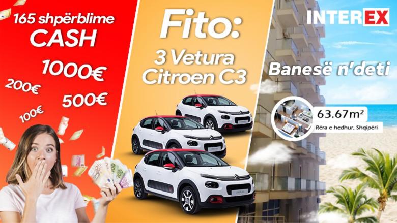 Fitoni banesë te Rëra e Hedhur,  veturë të re apo deri në 1,000 euro cash me lojën shpërblyese të Interex