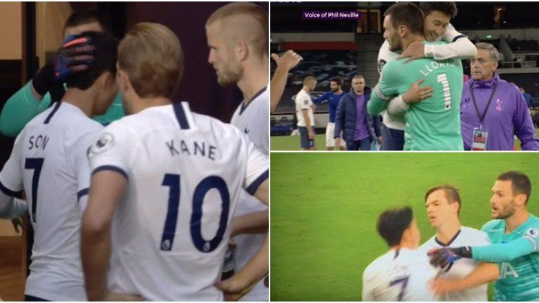 Pas një zënke të ashpër në përfundimin e pjesës së parë – Lloris dhe Son e mbyllën me një përqafim takimin ndaj Evertonit