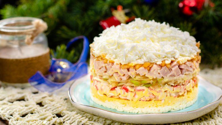 Sallatë e Vitit të Ri Mbretëresha e borës: Tani e tutje do ta gatuani në çdo rast festiv!